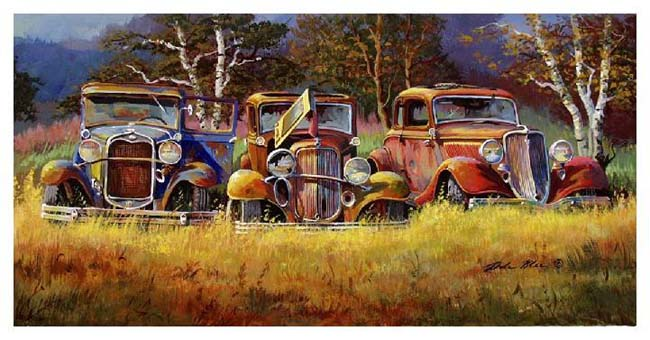 Rusty Old Car Paintings