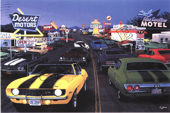 Dave Snyder, American Graffiti items in Muscle Car Artwork store on