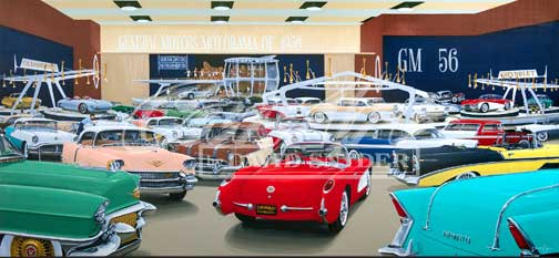 Motorama 1956 By Dave Snyder This Is The Fourth Painting In Series And Boasts All Nuance Detail Of Previous